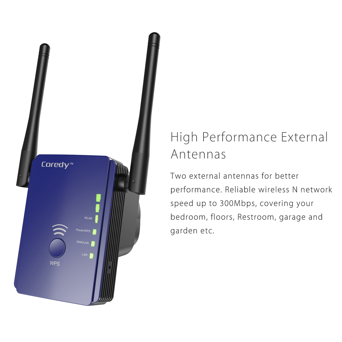 Coredy 300Mbps Mini WiFi Extender/Wi-Fi Range Extender ...