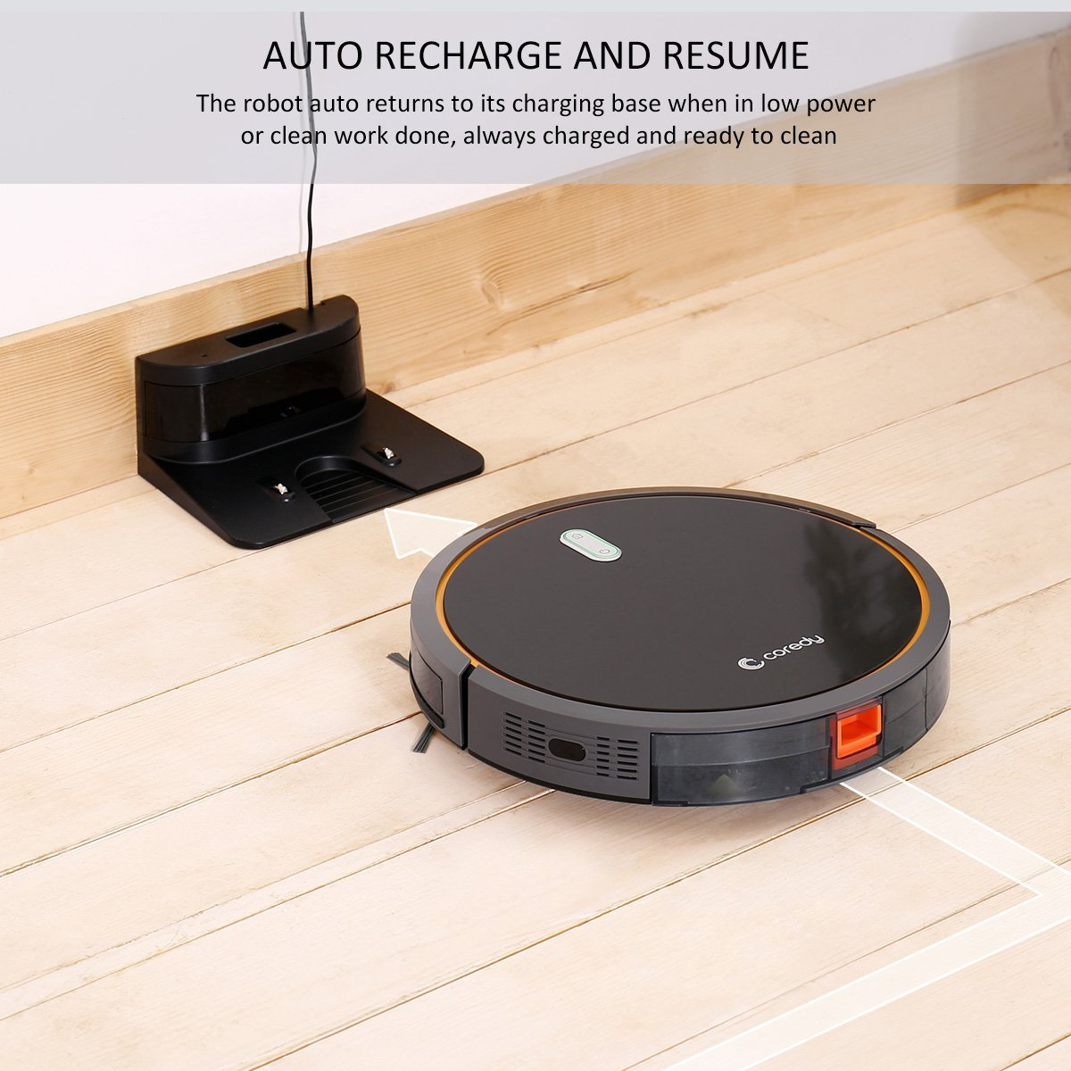 Coredy Robotic Vacuum With Mop And Water Tank High