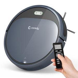 Coredy Robot Vacuum Cleaner, 1400Pa Super-Strong Suction, Ultra Thin, Automatic Self-Charging Roboti...