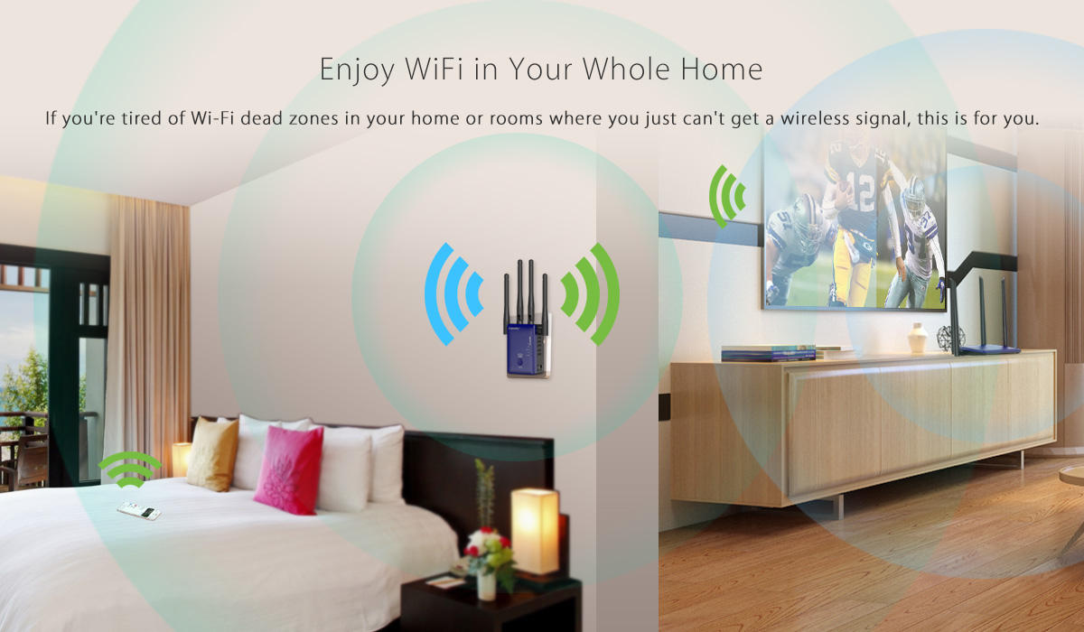 Coredy CX-E120 extends the range of your existing AC1200 WiFi network