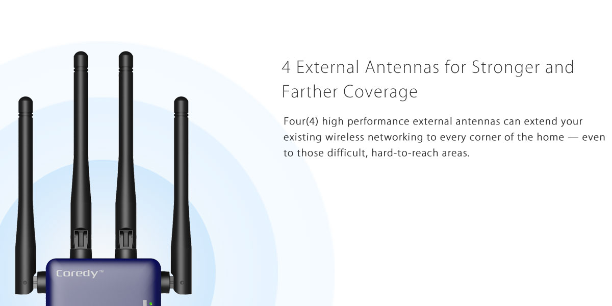 High performance external antennas for better WiFi coverage and more speed